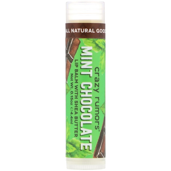 Crazy Rumors, Lip Balm with Shea Butter, Mint Chocolate, 0.15 oz (4.4 ml)