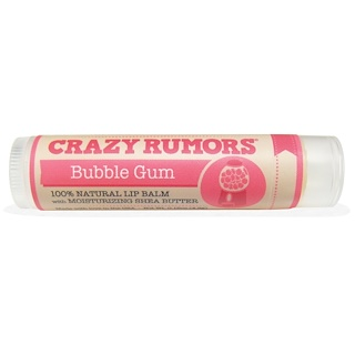 Crazy Rumors, 100% Natural Lip Balm, Bubble Gum, 0.15 oz (4.4 ml)