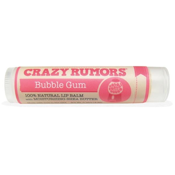 Crazy Rumors, 100% Natural Lip Balm, Bubble Gum, 0.15 oz (4.4 ml)