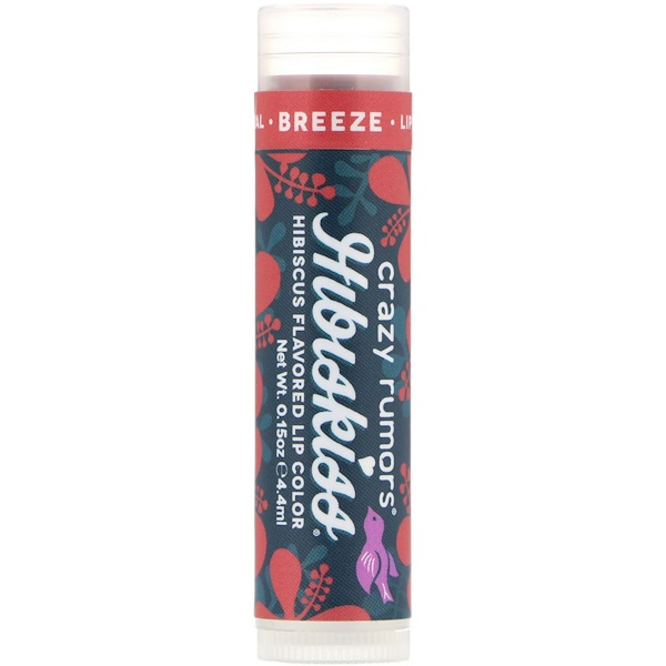 Crazy Rumors, Hibiskiss, Hibiscus Flavored Lip Color, Breeze, 0.15 oz (4.4 ml) (Discontinued Item)
