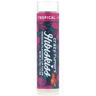 Crazy Rumors, HibisKiss, Hibiscus Flavored Lip Color, Tropical, 0.15 oz (4.4 ml)