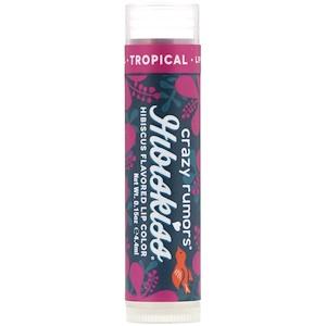 Крэйзи Руморс, HibisKiss, Hibiscus Flavored Lip Color, Tropical, 0.15 oz (4.4 ml) отзывы покупателей