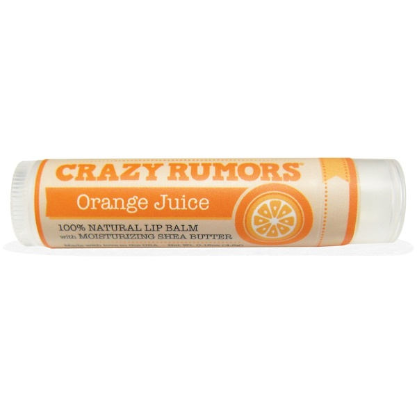 Crazy Rumors, 100% Natural Lip Balm, Orange Juice, 0.15 oz (4.4 ml) (Discontinued Item)