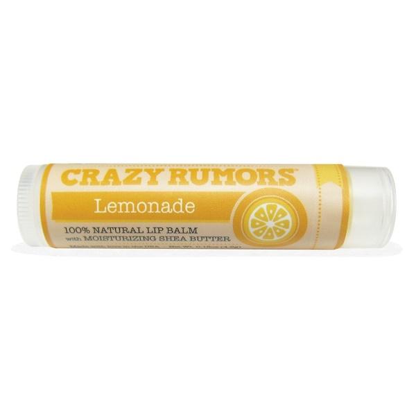 Crazy Rumors, 100% Natural Lip Balm, Lemonade, 0.15 oz (4.4 ml)