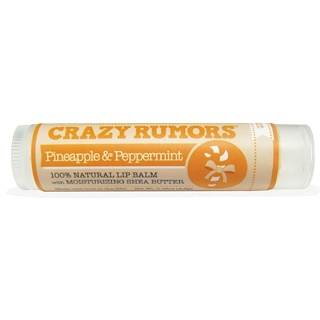 Crazy Rumors, 100% Natural Lip Balm, Pineapple & Peppermint, 0.15 oz (4.4 ml)