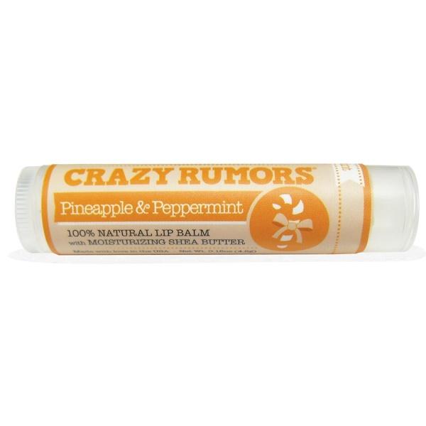 Crazy Rumors, 100%-ный натуральный бальзам, Ананас и мята, 0,15 унции (4,4 мл) (Discontinued Item)