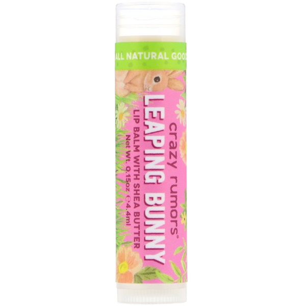 Crazy Rumors, Lip Balm with Shea Butter, Leaping Bunny, Plum Apricot, 0.15 oz (4.4 ml) (Discontinued Item)