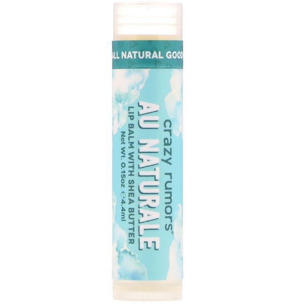 Crazy Rumors, Lip Balm with Shea Butter, Au Naturale, 0.15 oz (4.4 ml)