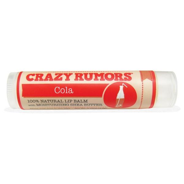 Crazy Rumors, 100% Natural Lip Balm, Cola, 0.15 oz (4.4 ml) (Discontinued Item)