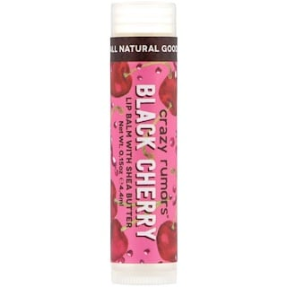 Crazy Rumors, Lip Balm with Shea Butter, Black Cherry, 0.15 oz (4.4 ml)