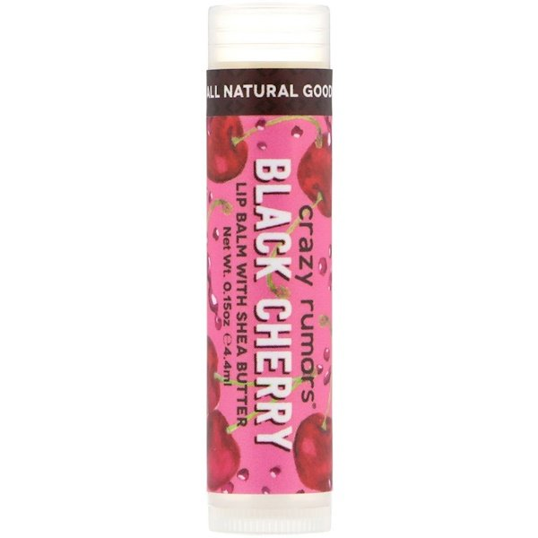Crazy Rumors, Lip Balm with Shea Butter, Black Cherry, 0.15 oz (4.4 ml) (Discontinued Item)