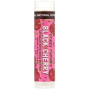 Крэйзи Руморс, Lip Balm with Shea Butter, Black Cherry, 0.15 oz (4.4 ml) отзывы покупателей