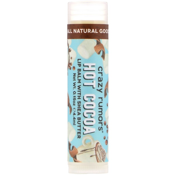 Crazy Rumors, Lip Balm with Shea Butter, Hot Cocoa , 0.15 oz (4.4 ml)