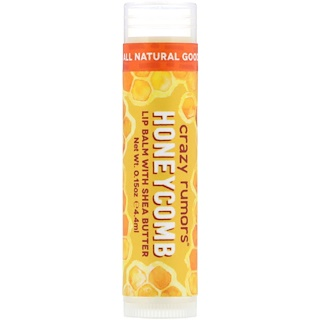 Crazy Rumors, Lip Balm with Shea Butter, Honeycomb, 0.15 oz (4.4 ml)