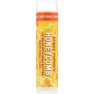 Crazy Rumors, Bálsamo para labios 100 % natural, abeja mi miel, 0.15 oz (4.4 ml)