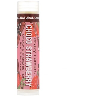 Crazy Rumors, Lip Balm with Shea Butter, Choco Strawberry, 0.15 oz (4.4 ml)