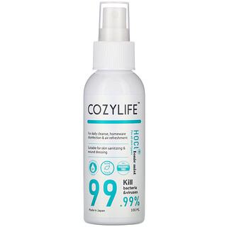Cozylife, HOCL Ionic Mist Hand Sanitizer, for All Skin Types, 3.38 fl oz (100 ml)