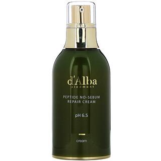 d'Alba, Peptide No-Sebum, Repair Cream, 1.69 fl oz (50 ml)