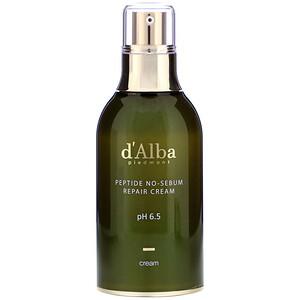 d'Alba, Peptide No-Sebum, Repair Cream, 1.69 fl oz (50 ml) отзывы