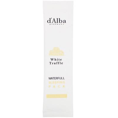Купить D'Alba White Truffle, Waterfull Sleeping Pack, ночная маска для лица с белым трюфелем, 48мл (1, 62жидк.унции)