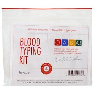 Дадамо, Blood Typing Kit, 1 Easy Self-Testing Kit отзывы