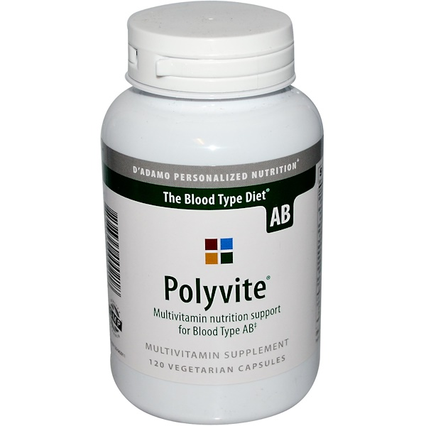 D'adamo, Polyvite, For Blood Type AB, 120 Veggie Caps (Discontinued Item)