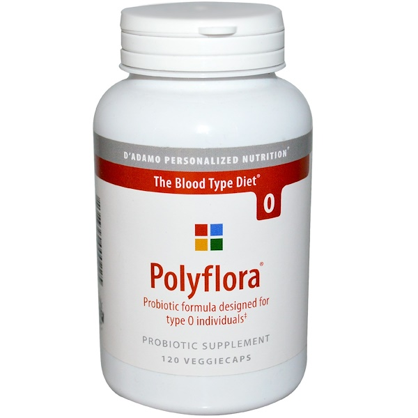 Polyflora, Probiotic Formula for Blood Type Diet O, 120 Veggie Caps