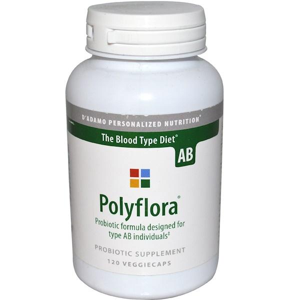 D'adamo, Polyflora AB, 120 Veggie Caps (Discontinued Item)