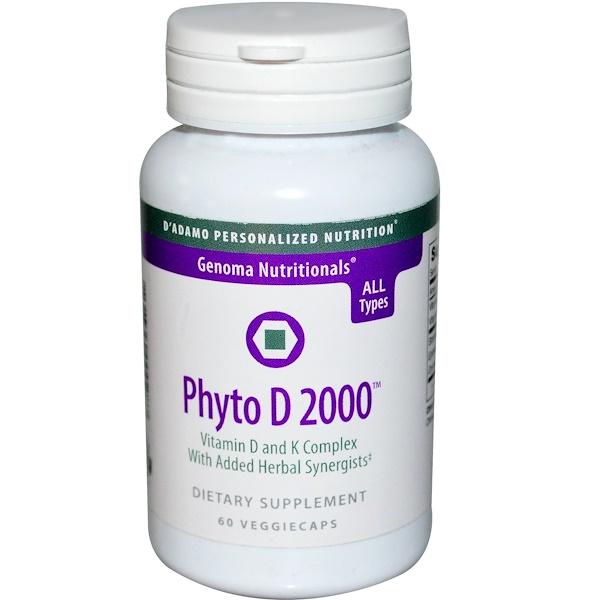 D'adamo, Genoma Nutritionals, Phyto D 2000, 60 Veggie Caps (Discontinued Item)
