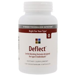 Дадамо, Deflect, Lectin Blocking Formula, The Blood Type Diet 0, 120 Vegetarian Capsules отзывы покупателей