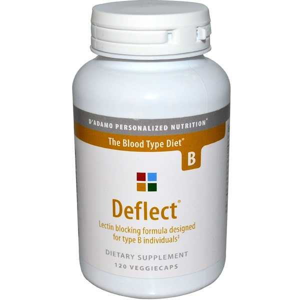 D'adamo, 屈折させる, レクチン予防フォーミュラ, 血液型ダイエットB, 植物性カプセル120粒 (Discontinued Item)