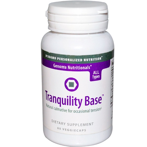D'adamo, Genoma Nutritionals, Tranquility Base, 60 Veggie Caps (Discontinued Item)