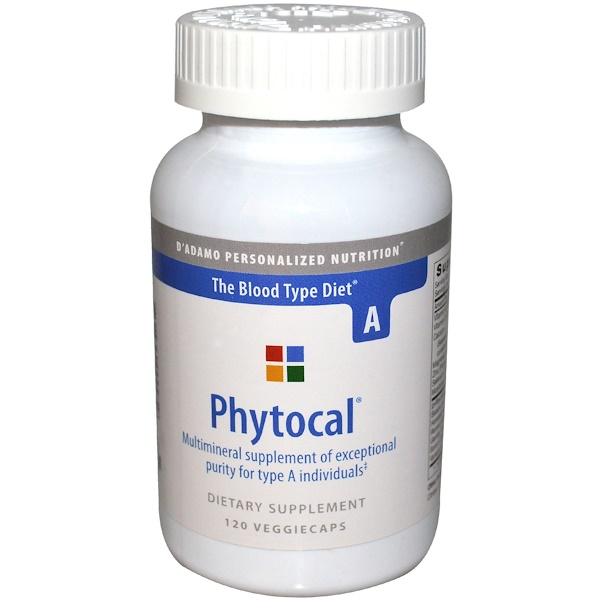 D'adamo, Phytocal, For Blood Type A, 120 Veggie Caps (Discontinued Item)
