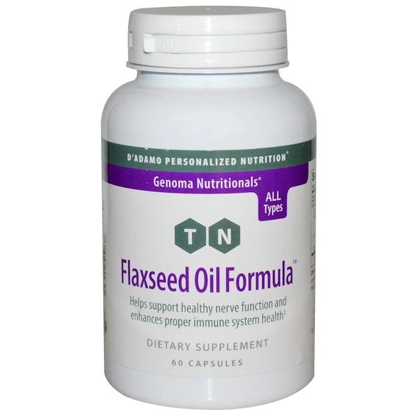 D'adamo, Genoma Nutritionals, Flaxseed Oil Formula, 60 Capsules (Discontinued Item)