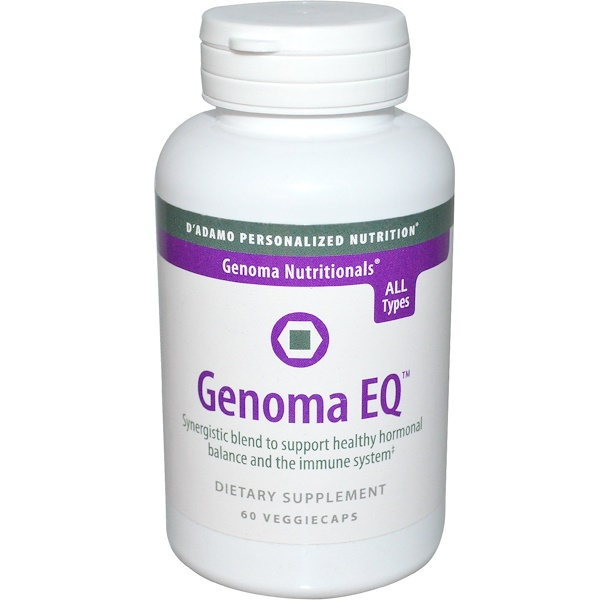 D'adamo, Genoma Nutritionals, Genoma EQ, 60 Veggie Caps (Discontinued Item)