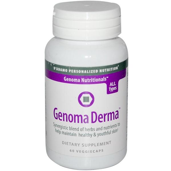 D'adamo, Genoma Derma, 60 Veggie Caps (Discontinued Item)