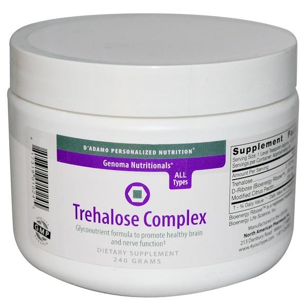 D'adamo, Линия продуктов Genoma Nutritionals, комплекс Trehalose, 240 г (Discontinued Item)