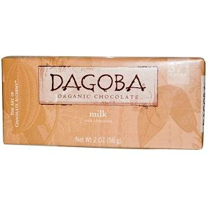 Dagoba Organic Chocolate, Молочный шоколад, 2 унций (56 г)