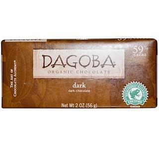 Dagoba Organic Chocolate, Dark Chocolate, 2 oz (56 g)