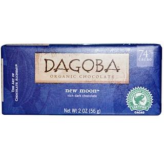 Dagoba Organic Chocolate, New Moon, Rich Dark Chocolate, 2 oz (56 g)