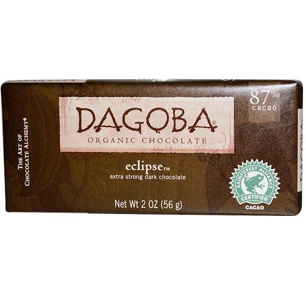 Dagoba Organic Chocolate, Eclipse, экстра темный шоколад, 2 унций (56 г)