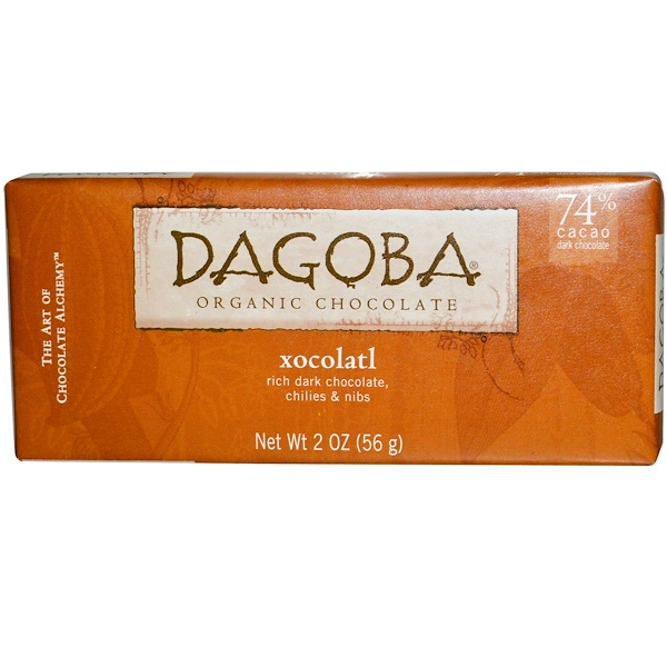 Dagoba Organic Chocolate, Ксоколатл, 2 унции (56 г) (Discontinued Item)