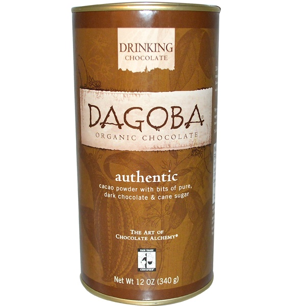 Dagoba Organic Chocolate, Drinking Chocolate, Authentic, 12 oz (340 g)