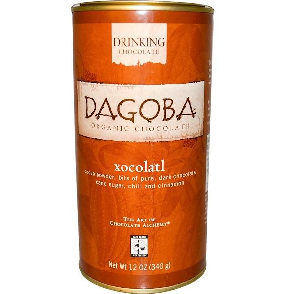 Dagoba Organic Chocolate, Drinking Chocolate, Xocolatl, 12 oz (340 g) (Discontinued Item)