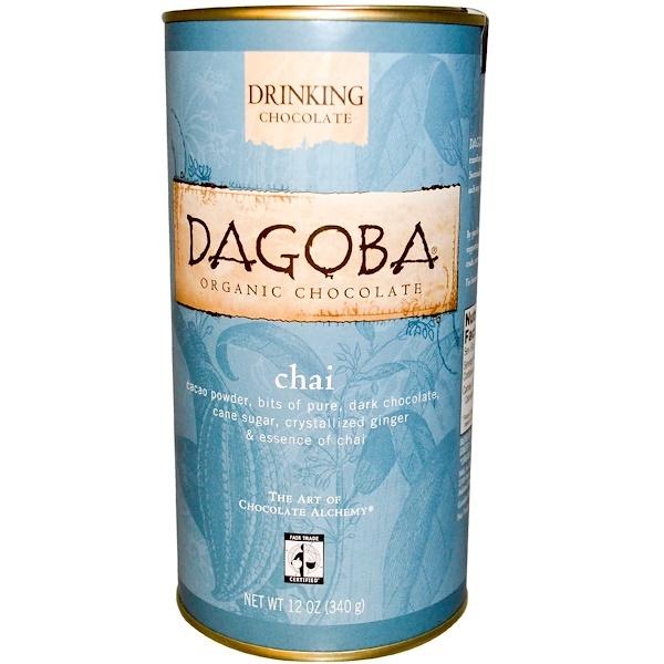 Dagoba Organic Chocolate, Drinking Chocolate, Chai, 12 oz (340 g) (Discontinued Item)