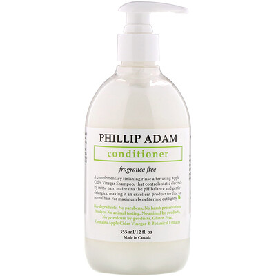 Купить Phillip Adam Conditioner, Fragrance Free, 12 fl oz (355 ml)