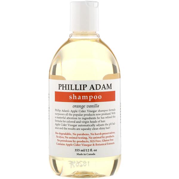 Shampoo, Orange Vanilla, 12 fl oz (355 ml)