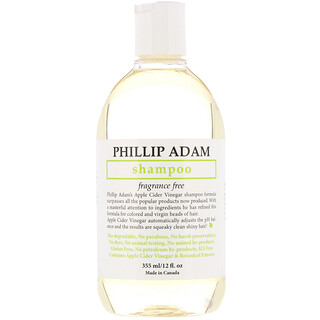 Phillip Adam, Shampoo, Fragrance Free, 12 fl oz (355 ml)