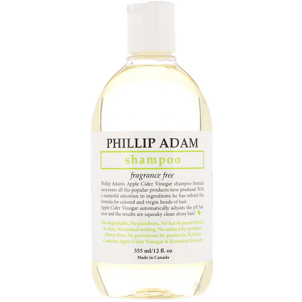 Phillip Adam, Shampoo, Fragrance Free, 12 fl oz (355 ml)