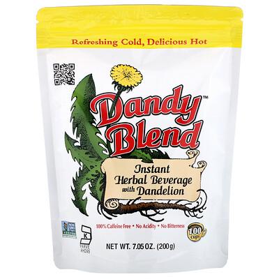 Купить Dandy Blend Instant Herbal Beverage with Dandelion (Растворимый травяной напиток с одуванчиком), без кофеина, 200 г (7, 05 унции)